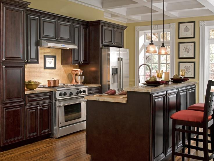 Ideas de cocinas color chocolate mauricio gast lum hern ndez for Chocolate brown kitchen designs