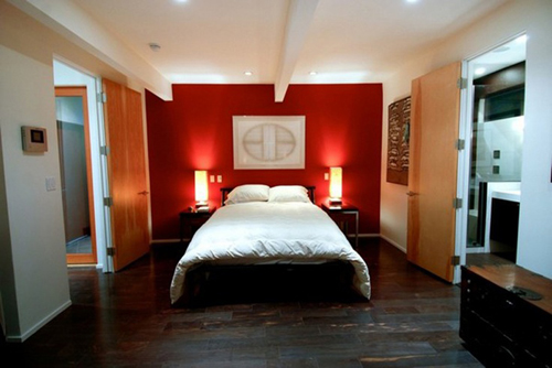 Paredes destacadas en rojo mauricio gast lum hern ndez for Main bedroom decor ideas