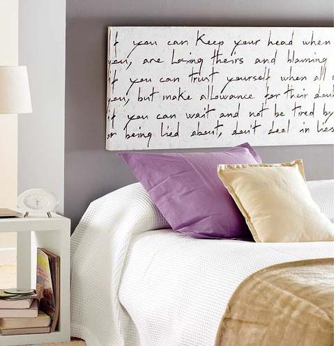 Encantador Cabeceros Pintados A Mano Composicin Ideas para el