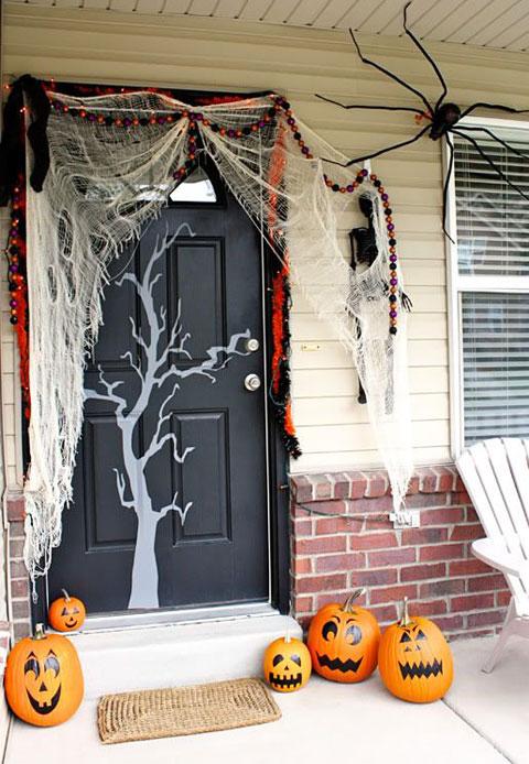 Bruja puerta halloween y dia de muertos pinterest for Decoracion de puertas de dia de muertos